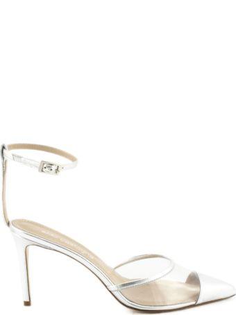 Aldo Castagna Silver-tone Laminated High-heel Elise Pumps