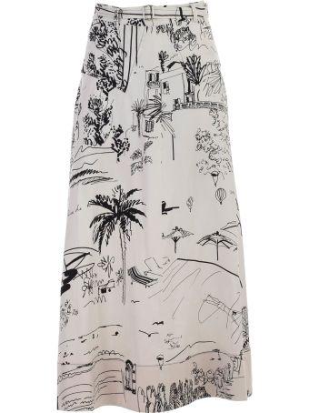 Paul Smith Sketch Print Full Skirt