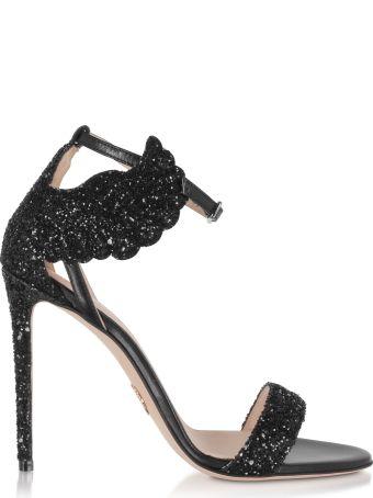 Oscar Tiye Black Malikah High Heel Sandals