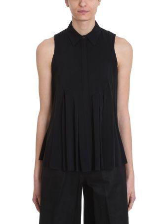 L'Autre Chose Black Viscose Shirt