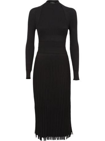 Cedric Charlier C?dric Charlier Rib-knit Fitted Midi Dress