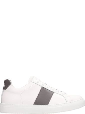 National Standard White Leather Sneakers