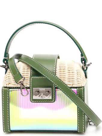 Rodo Wicker And Pvc Beauty Bag