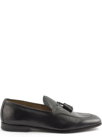 Doucal's Black Soft Leather Loafer