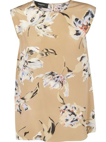 Rochas Floral Print Sleeveless Top