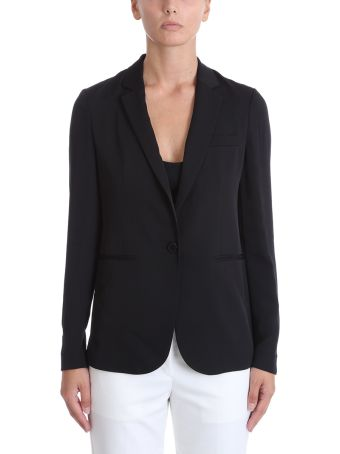 Theory Grinson Black Silk Blazer