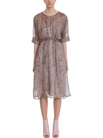 L'Autre Chose Leopard Chiffon Silk Dress