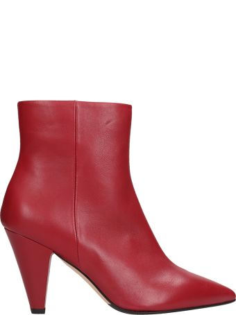 The Seller Burugundy Leather Ankle Boot