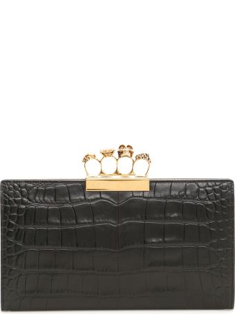 Alexander McQueen Four Ring Skull Clutch
