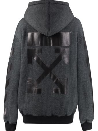 Off-White Cotton Full Zip Hoodie