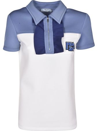 Prada Paneled Polo Shirt