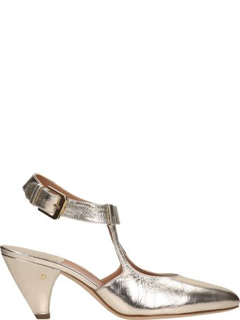 Laurence Dacade Tosca Metal Platinum Leather Pumps