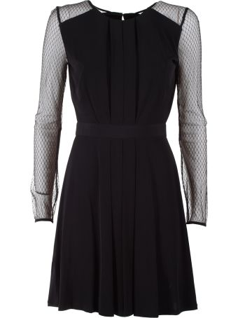 Bcbg Max Azria Tulle And Stretch-jersey Mini Dress