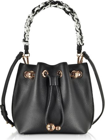 Sophia Webster Black Leather Romy Mini Bucket Bag