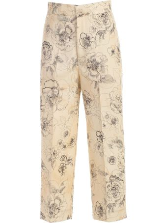 SEMICOUTURE Erika Cavallini Floral Printed Trousers