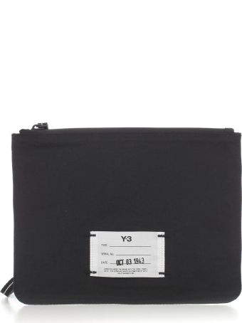 Y-3 Yohji Yamamoto Adidas Logo Patched Clutch