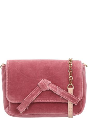 L'Autre Chose Pink Velvet Mini Bag