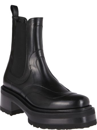 Pierre Hardy Black Leather Ankle Boots