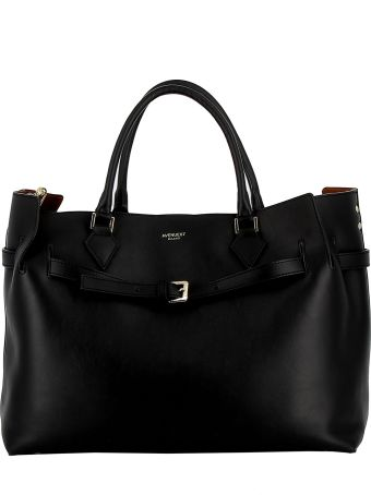 Avenue 67 Black Leather Tote