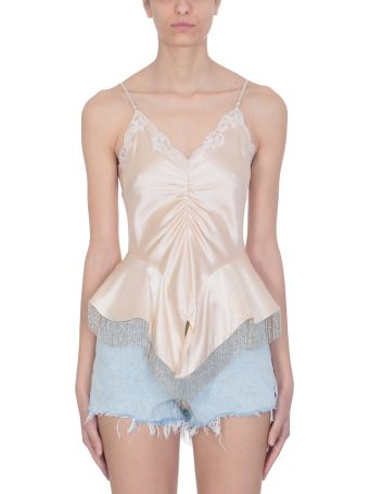 Alexander Wang Ruched Lace Top