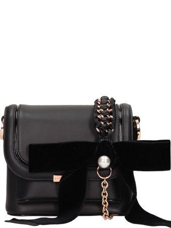 Sophia Webster Blakc Leather Claudie Pearl Bag