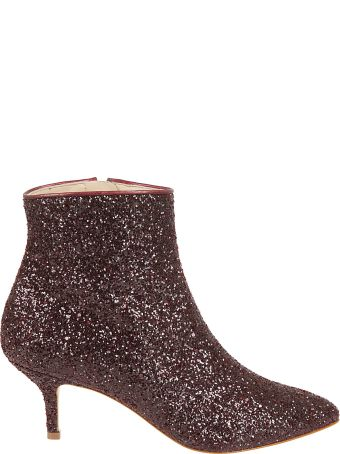 Polly Plume Wannabe Glitter Ankle Boots
