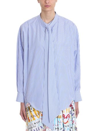 Balenciaga Balenciaga Blue And White Striped Cotton Shirt