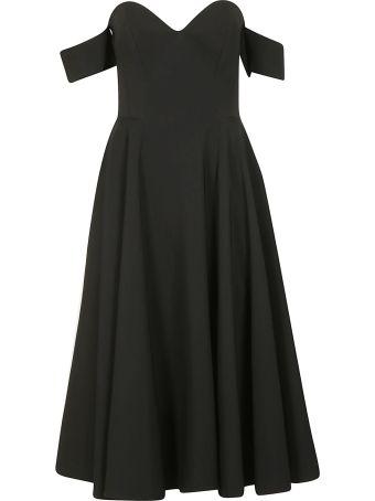 Sara Battaglia Off-shoulder Dress