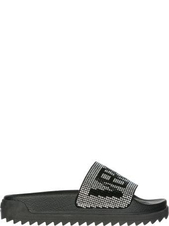 Versus Versace  Genuine Leather Slippers Sandals