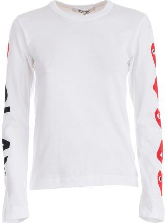 Comme des Garçons Play Logo Print Sweatshirt