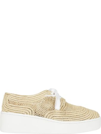 Robert Clergerie Perforated Woven Sneakers