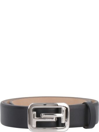 Tod's Smooth Leather Belt With Double-t Buckle