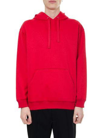 Valentino Red Cotton Sweatshirt Vltn Hoodie
