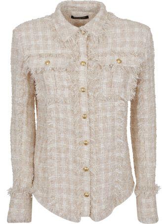 Balmain 2 Pocket Fringed Tweed Shirt