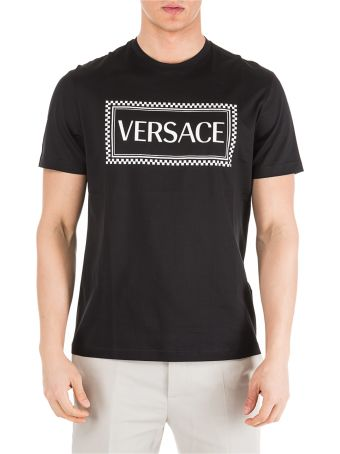 Versace  Short Sleeve T-shirt Crew Neckline Jumper Logo 90s Vintage