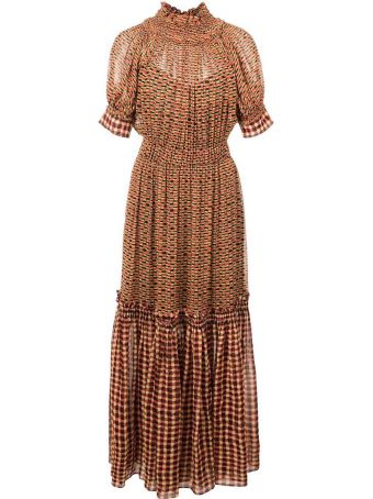 Proenza Schouler Tiered Crepe-chiffon Maxi Dress
