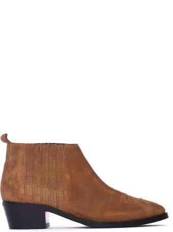 Janet & Janet Brown Ankle Boots