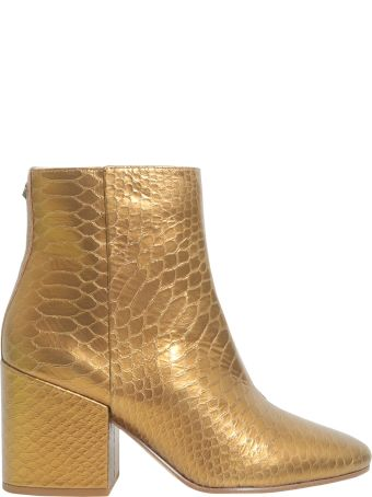 Sam Edelman Snake Printed Ankle Boots