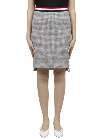 Thom Browne Tweed Pencil Skirt