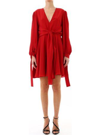 Stella McCartney Dress Red Silk