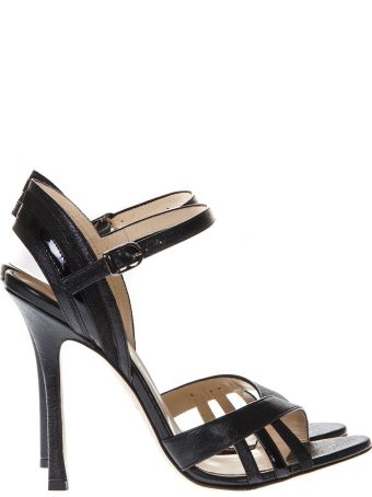Marc Ellis Vegas Black Leather Sandals
