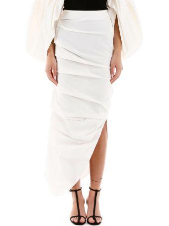 A.W.A.K.E. Mode Draped Midi Skirt