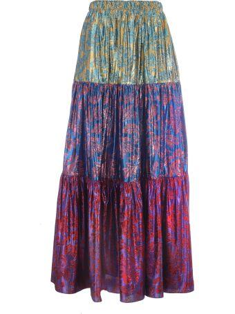 Gucci Brocade Pleated Skirt