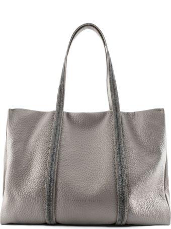Fabiana Filippi Soft Shoulder Bag In Dove Grey Leather