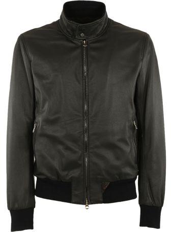 Stewart Zip Up Leather Jacket