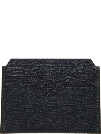 Valextra Black Leather Cardholder