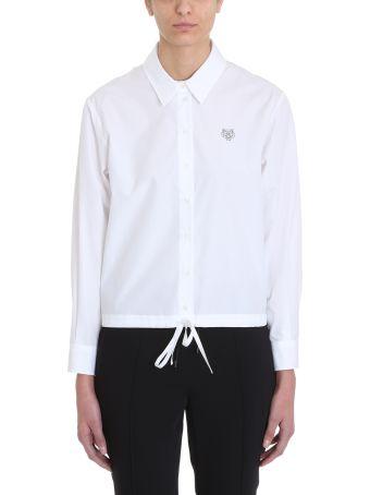 Kenzo White Tiger Logo T-shirt