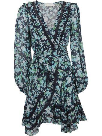 Zimmermann Moncur Wrap Mini Dress