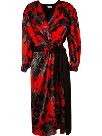 Dries Van Noten Belt-tie Wrapped Dress