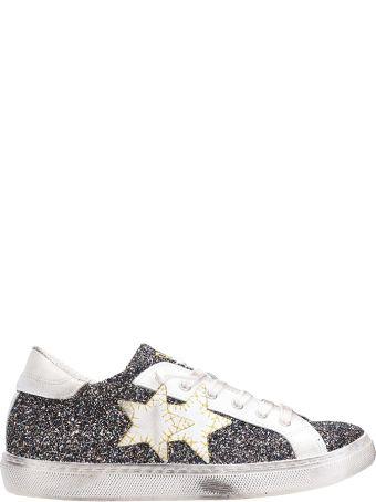 2Star Low Blue Gold Glitter Sneakers